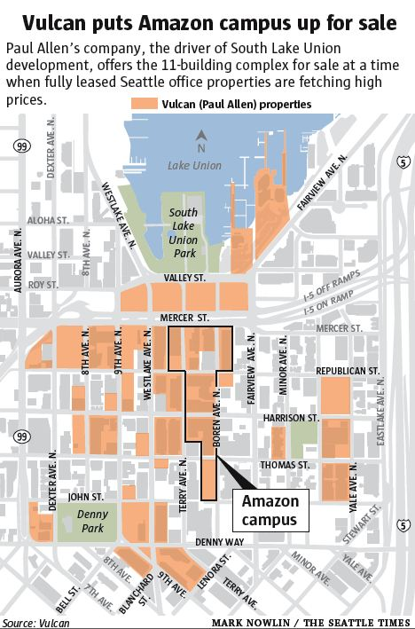 Vulcan puts Amazon campus up for sale · Lake Union Laboratory/ LULab